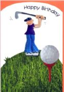 Boys Birthday Card - Golfer